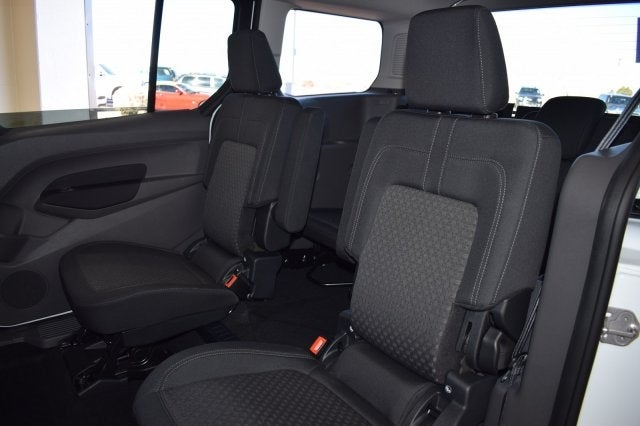 FORD TRANSIT VAN CONNECT 02+ PREMIUM FABRIC SEAT COVERS WHITE PIPING 1+1